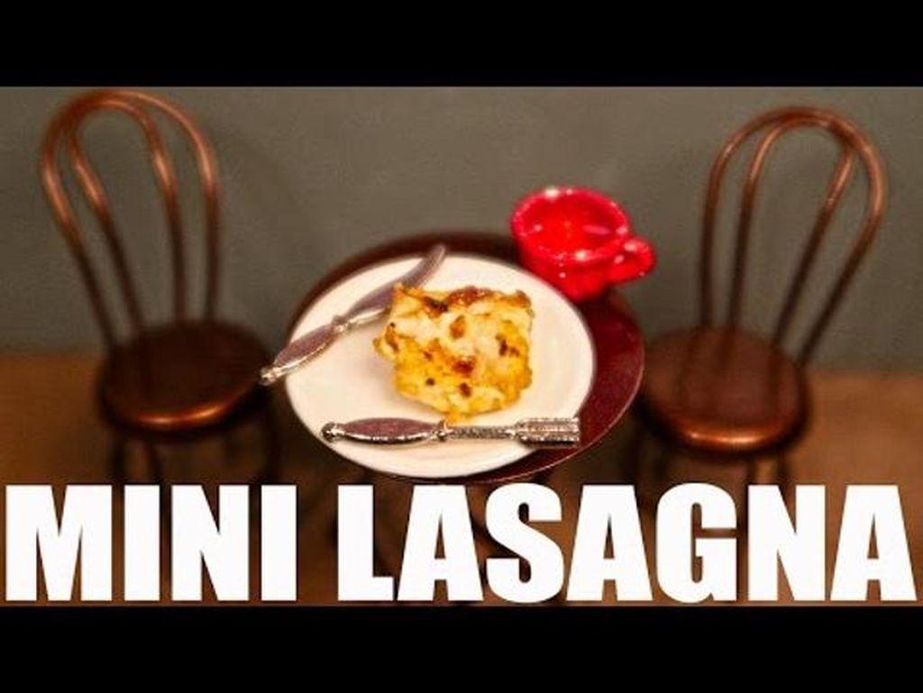 Seniman Jay Baron Berhasil Membuat Lasagna Terkecil di Dunia