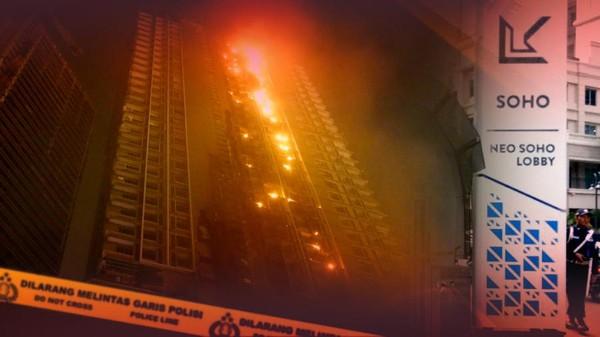 Apartemen Neo Soho Terbakar