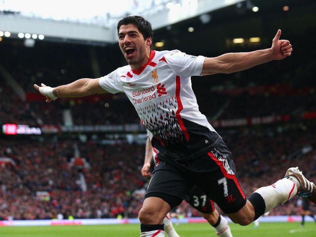 Luis Suarez (Uruguay) mencetak 69 gol dalam kariernya di Premier League. (Foto: Alex Livesey/Getty Images)