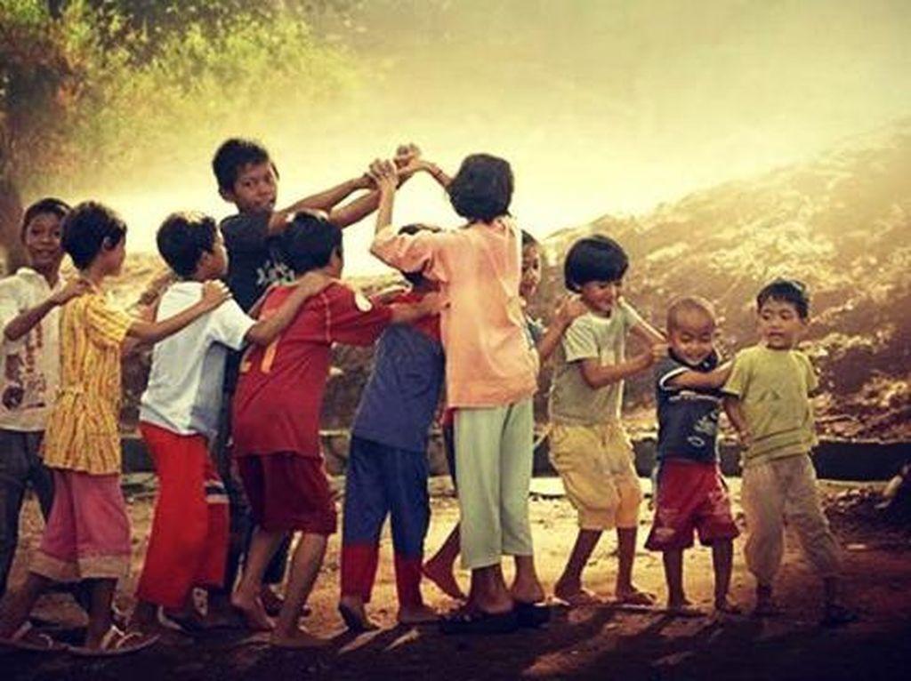 Potret Asyiknya Permainan Tradisional Sebelum Era Teknologi