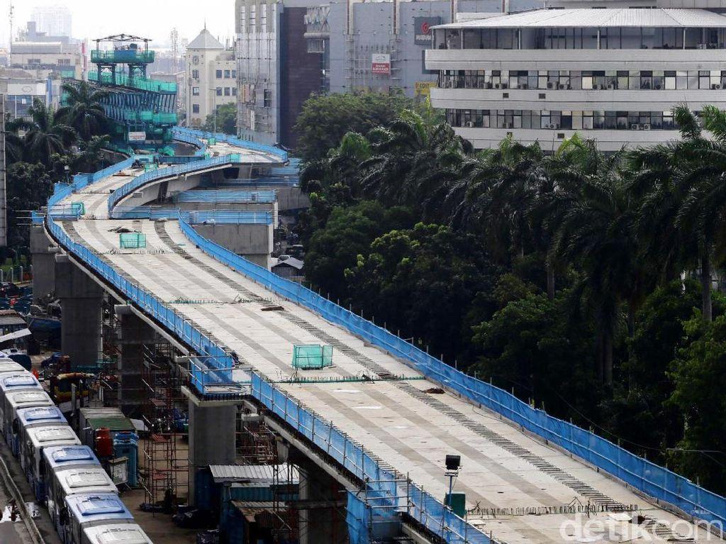 Penampakan Terkini Proyek MRT di Jalan Panglima Polim