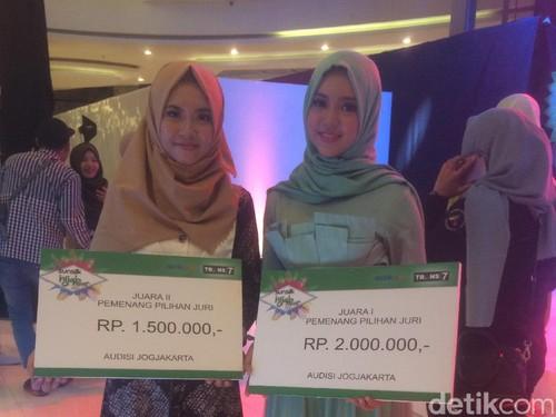 Top 3 Peserta Audisi Sunsilk Hijab Hunt Yogyakarta dapat Hadiah Jutaan Rupiah