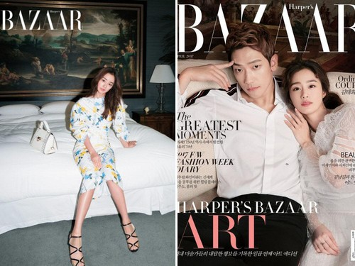 Korean Style: Kemesraan Rain dan Kim Tae Hee di Cover Majalah