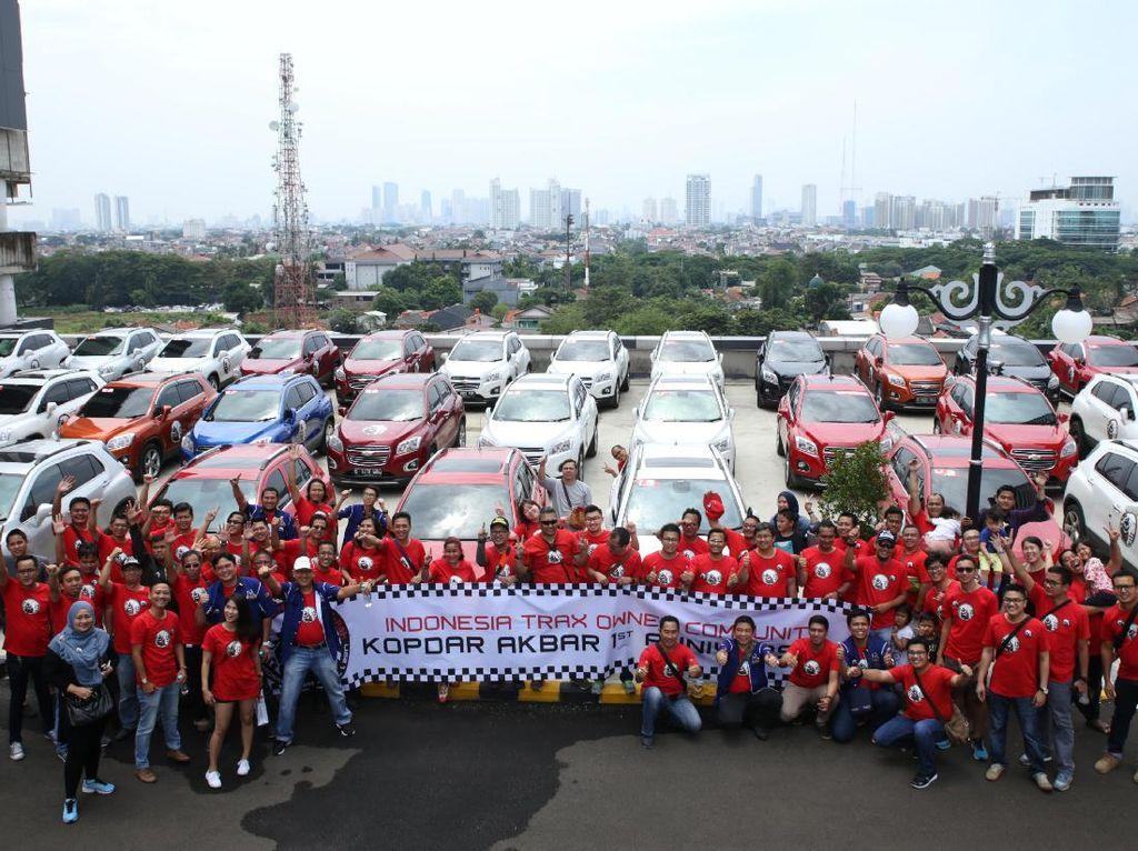 T-RAX melakukan rolling thunder keliling Jakarta, Minggu (2/4). Dok, T-RAX Owner Community.