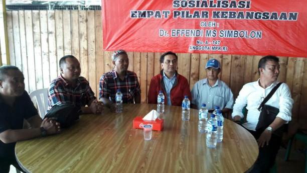 Effendi Simbolon Sosialisasi Empat Pilar Kebangsaan di Muara Angke