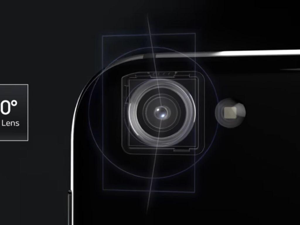 Kamera depan dibekali sensor 16 MP, sedangkan di belakang dibekali sensor 22,6 MP. Foto: Sharp