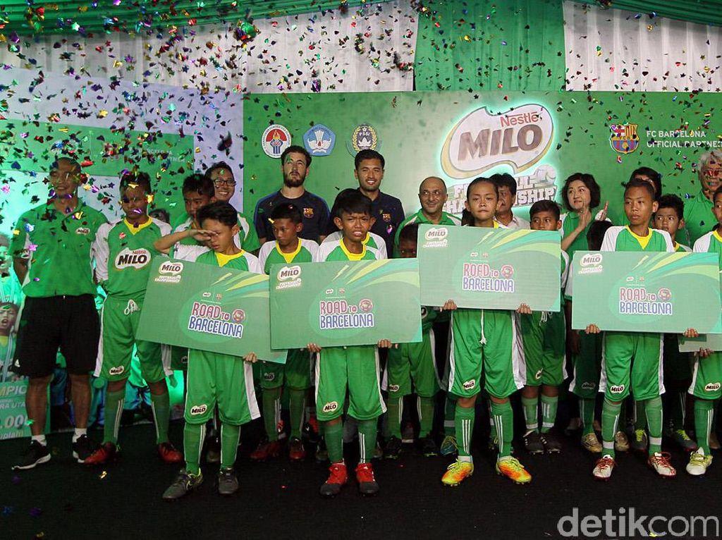 5 Pemain Terbaik MILO Football Championship Dikirim ke Barcelona