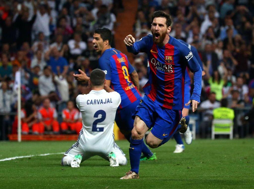 Barca Hajar Madrid 3-2 di Bernabeu