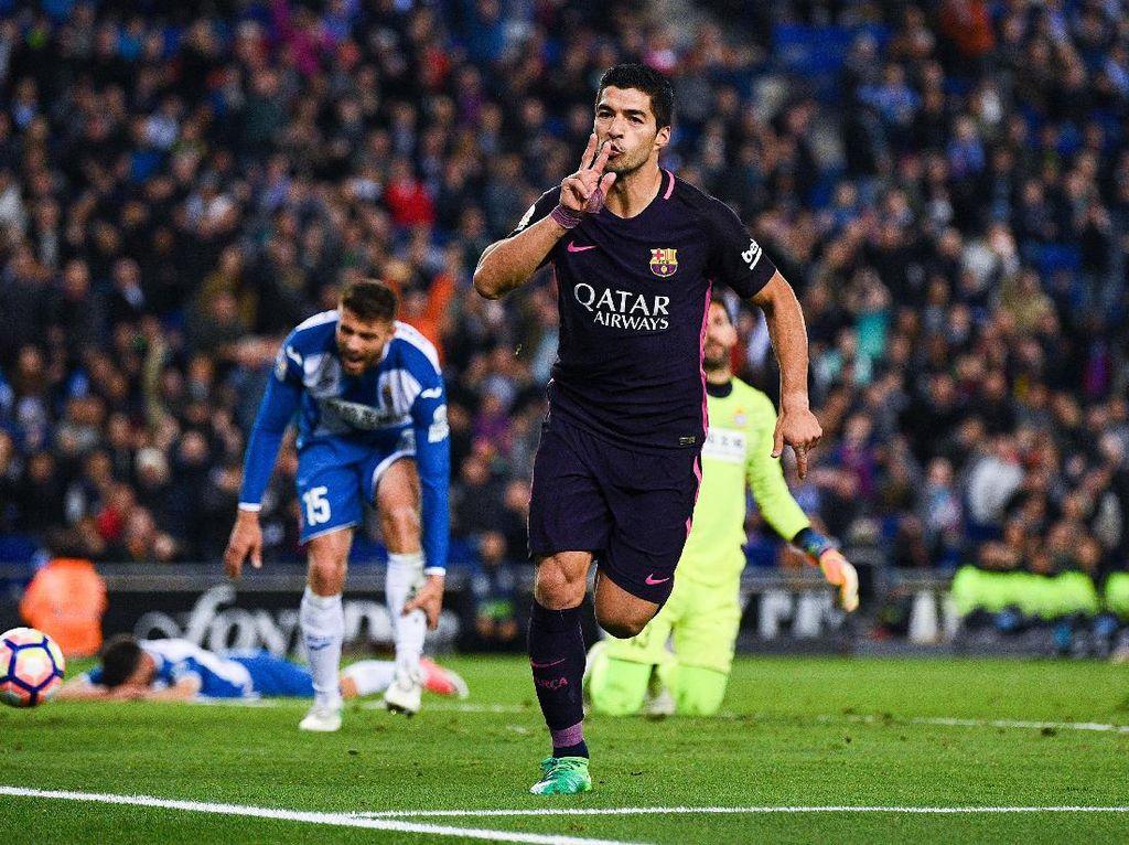 Di belakang Messi dan Neymar, ada beberapa pemain yang punya klausul pelepasan sebesar 200 juta euro. Salah satunya adalah Luis Suarez. (Foto: Getty Images Sport/David Ramos)