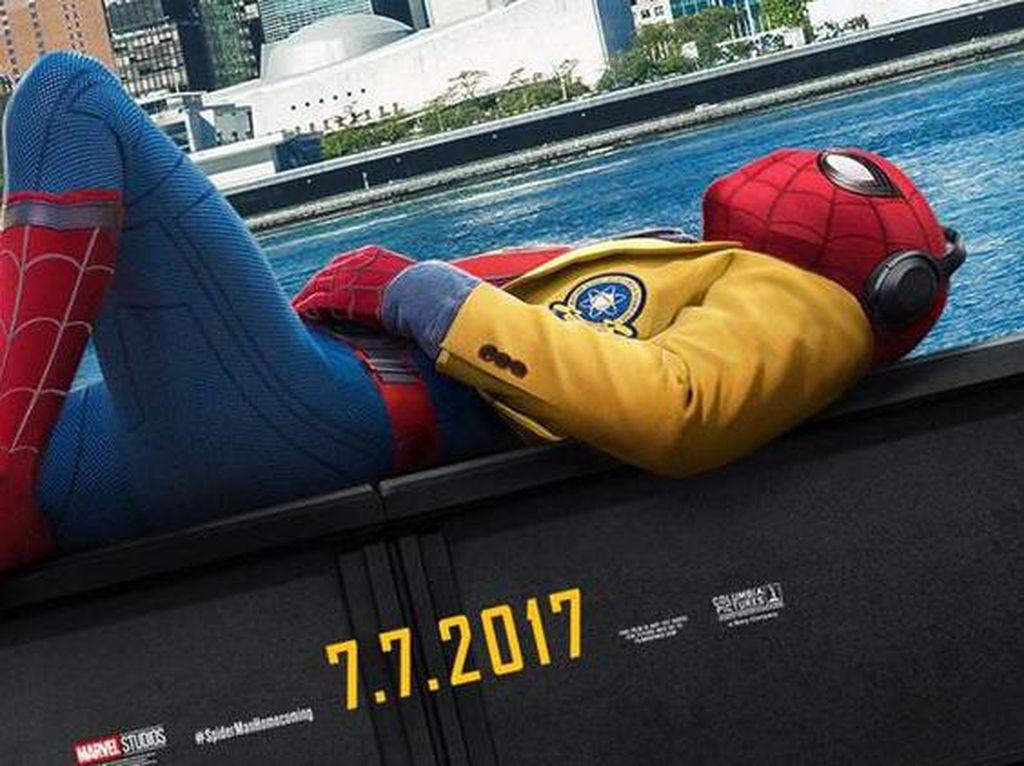Spidey Suit yang dipakai Spider-Man di seri ini rancangan Tony Stark lho! Dok. Ist; detikHOT