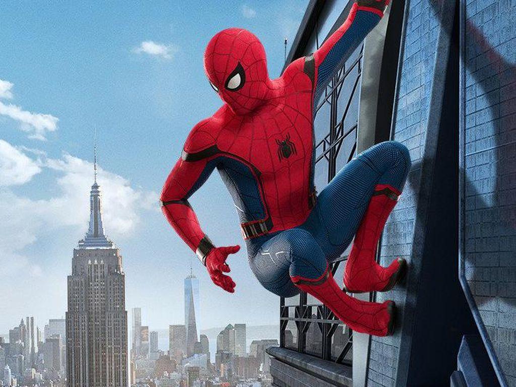 Sudah siap menyaksikan Spider-Man bergelantungan di gedung pencakar langit 7 Juli mendatang? Dok. Ist; detikHOT
