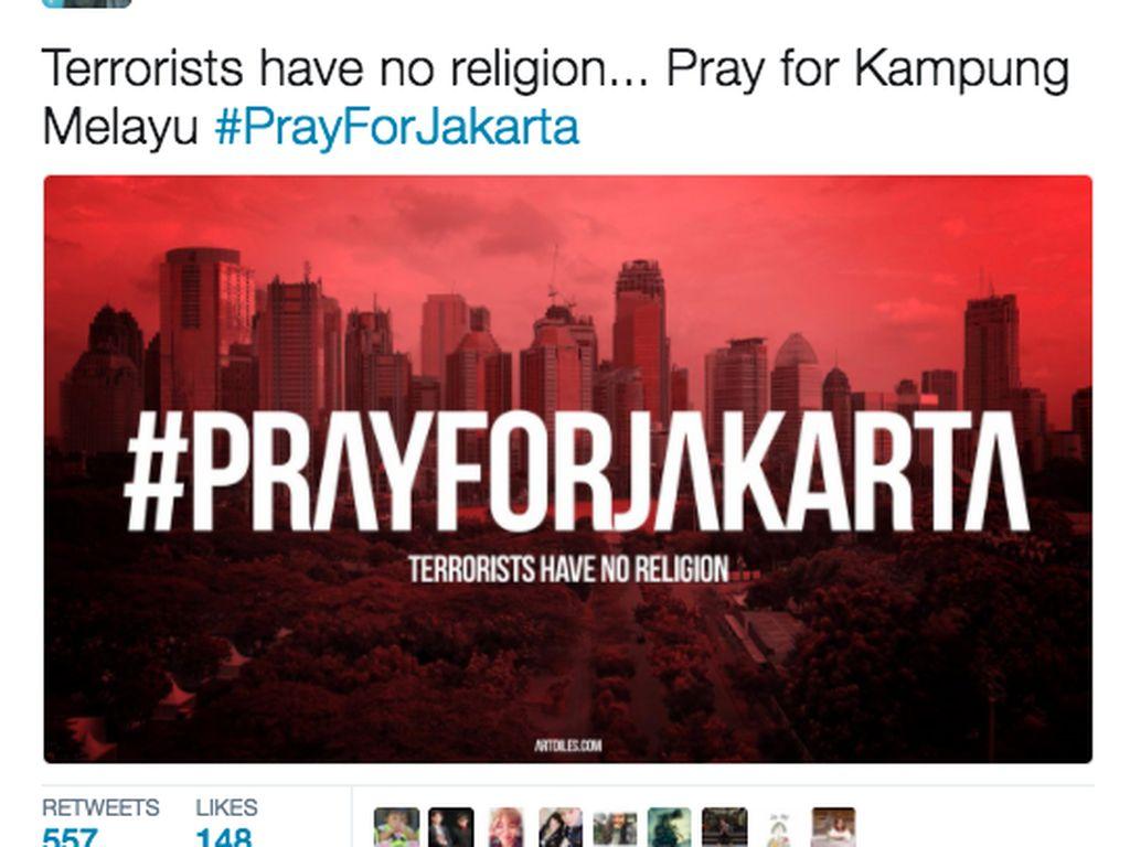 #PrayForJakarta Menggema di Linimasa