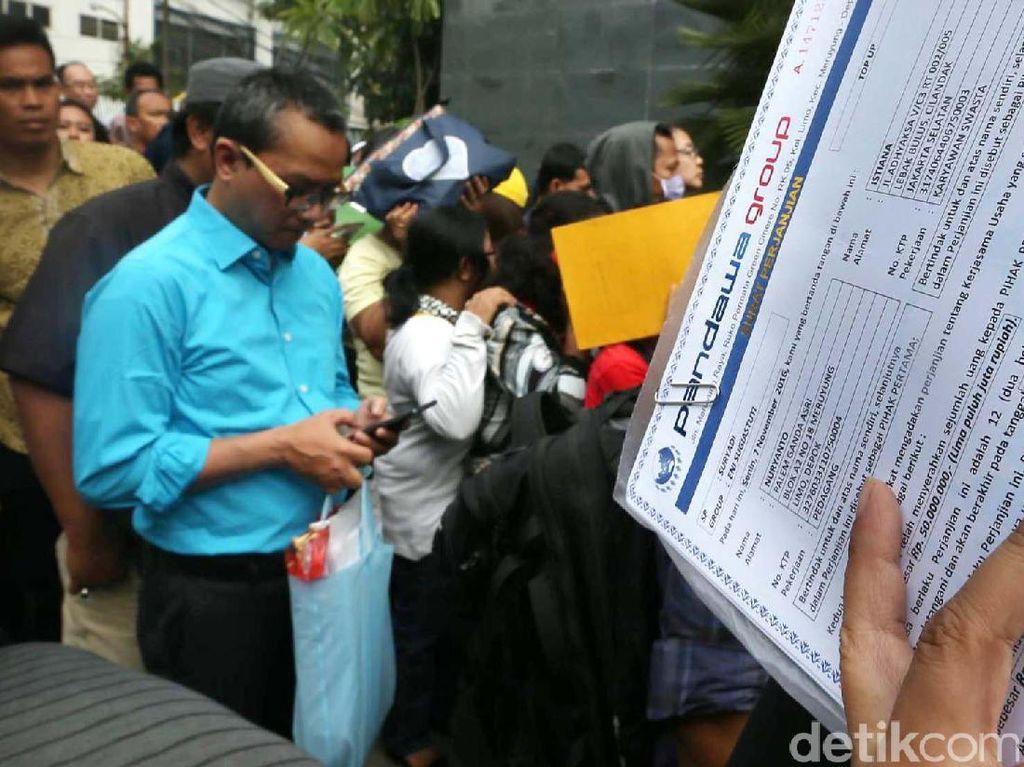 Nasabah Pandawa Group Serbu PN Jakarta Pusat