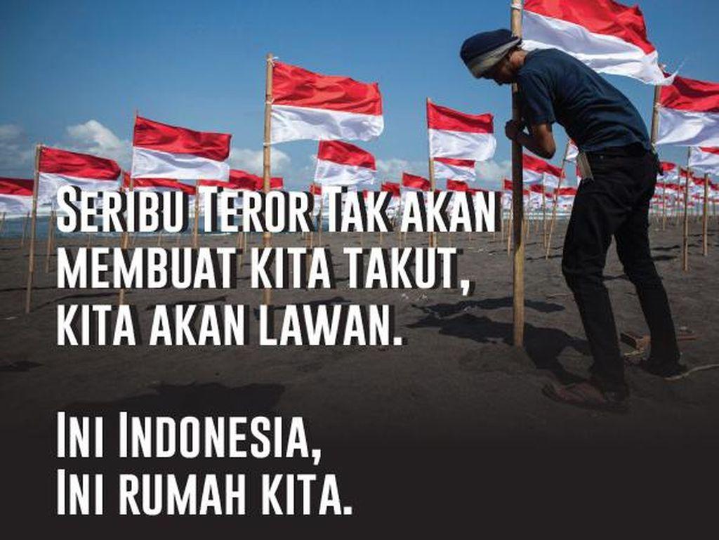 Meme Berantai: Lawan Teroris, Kami Tidak Takut!