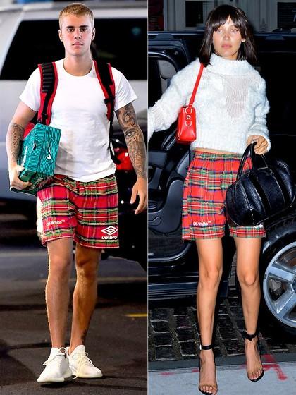 Justin Bieber dan Bella Hadid Kembar Pakai Celana Boxer Rp 16 Juta