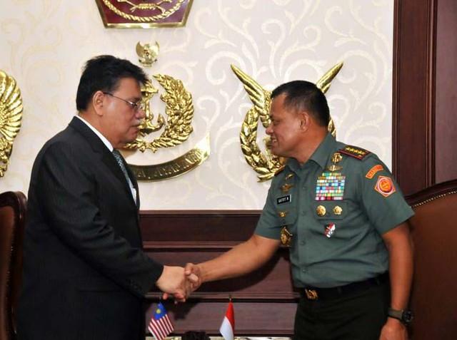 Panglima TNI Terima Dubes Malaysia