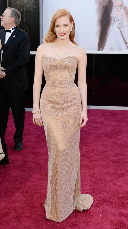 Foto: 15 Inspirasi Gaun Malam, Si Cantik Jessica Chastain