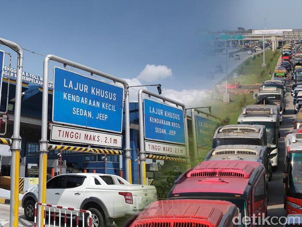 Macet Tol Cikampek Arah Jakarta, Laju Kendaraan 5 Km per Jam