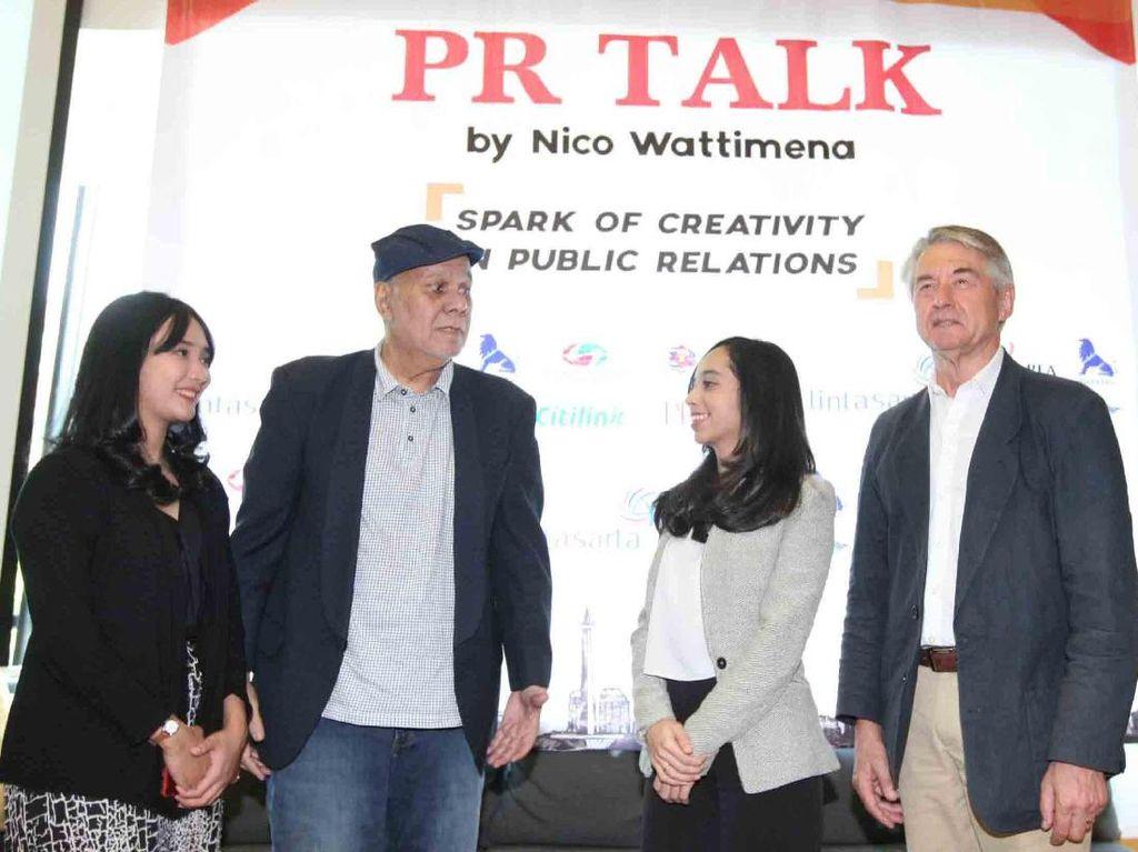 Workshop tersebut membahas mengenai perkembangan dunia public relations dalam menghadapai perkembangan dunia di era milenial.