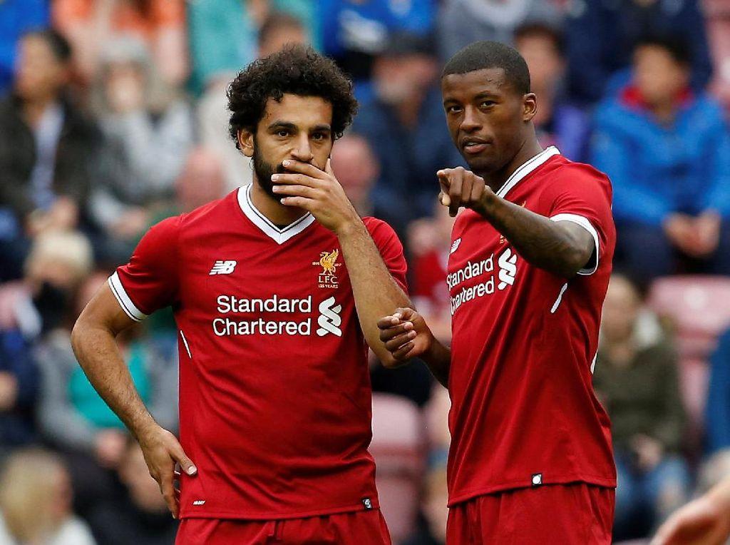 Salah ingin membuktikan diri bisa bersaing di tim Liverpool. Dia bertekad membayar kegagalannya saat bersama Chelsea yang hanya enam kali jadi starter di Premier League.(Craig Brough/Reuters)