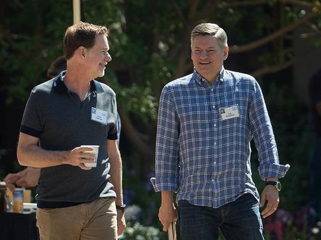 CEO Netflix, Reed Hastings juga terlihat hadir. Foto: Getty Images