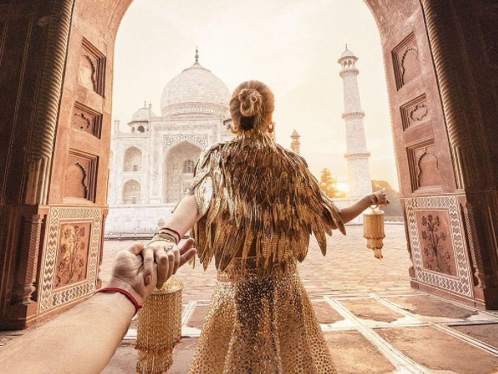 Kalau ini saat mereka berada di India. Osmann memulai proyek memotret punggung kekasihnya pada tahun 2011 dan populer karenanya. Foto: Instagram