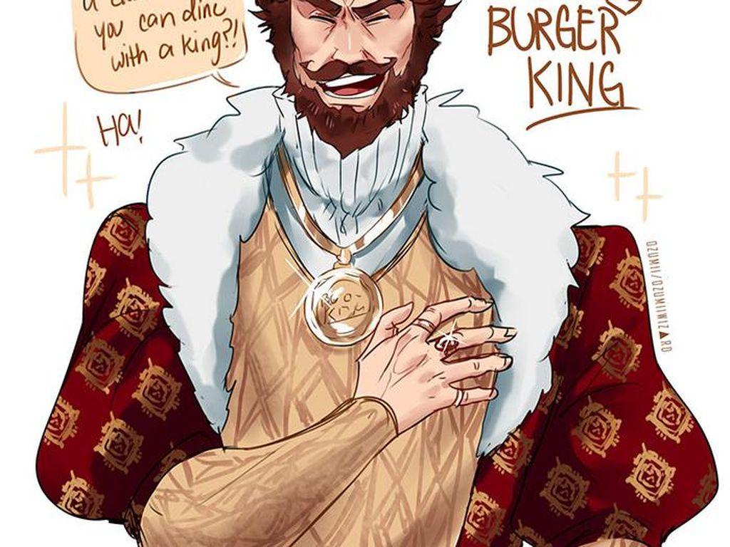 Ini Nih Jadinya Kalau Colonel Sanders hingga Burger King Disulap Jadi Tokoh Anime