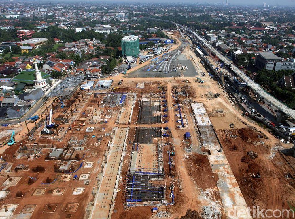 Foto: Pembangunan Depo MRT Lebak Bulus Maju Terus