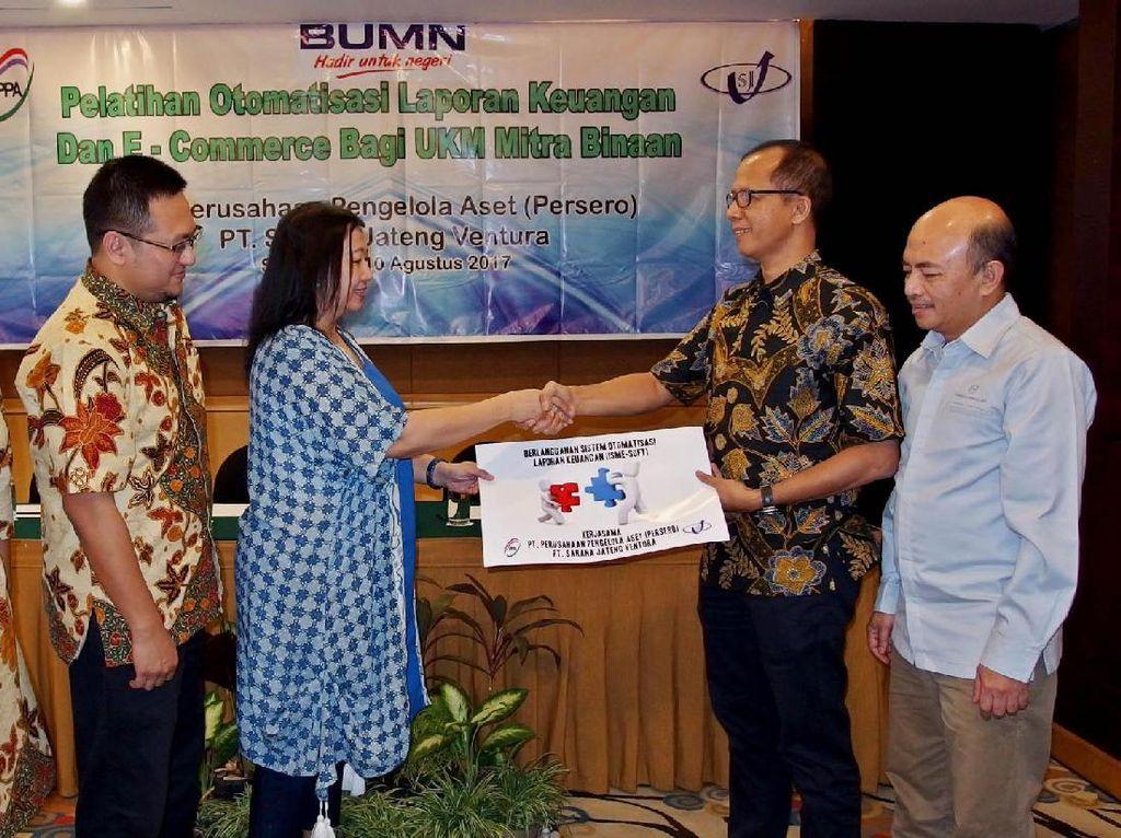 Hal tersebut merupakan bagian dari komitmen PT Sarana Jateng Ventura dan PT Perusahaan Pengelola Aset dalam pelaksanaan Program Kemintraan dan Bina Lingkungan (PKBL) dengan target penyaluran program PKBL sebesar Rp 53,6 miliar pada tahun 2017. Istimewa.