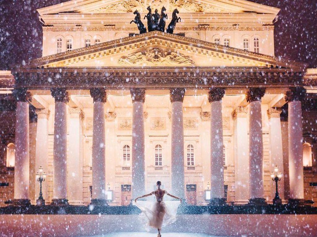 Bolshoi Theatre, Moscow, Rusia. Foto: Instagram.com/hobopeeba