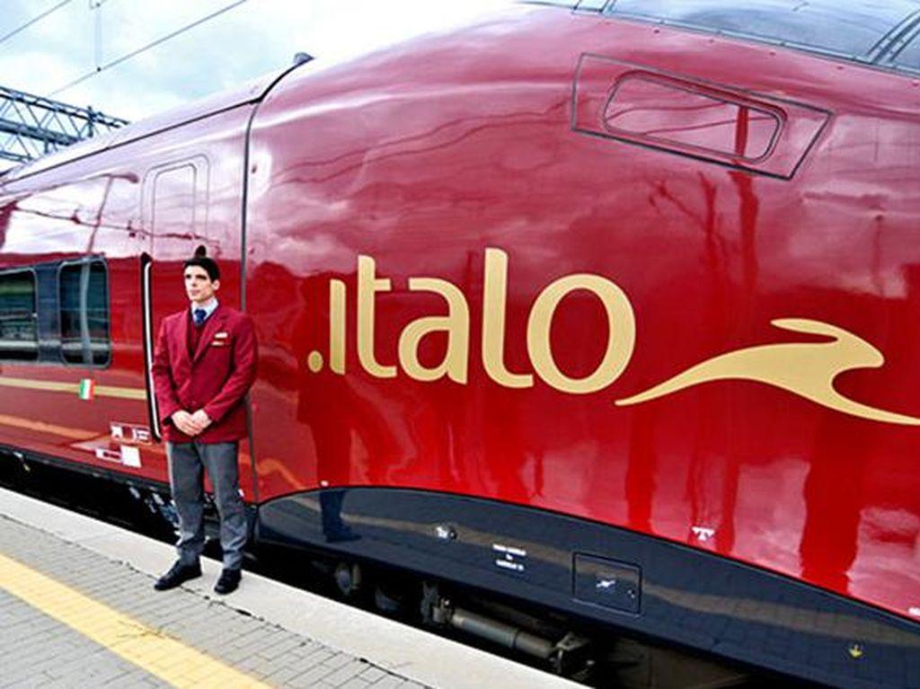 AGV Italo di Italia dengan kecepatan 360 km/jam. Salah satu rutenya adalah dari Roma ke Napoli. (Chinadaily)