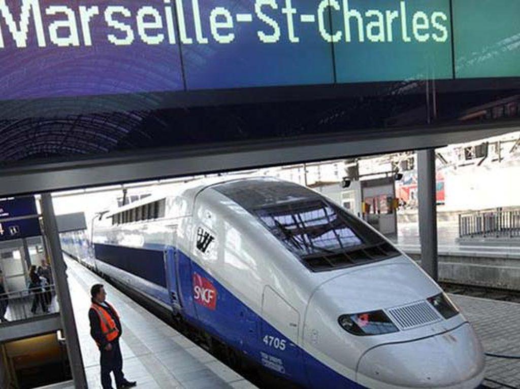 Alstom Euroduplex di Uni Eropa dengan kecepatan 318 km/jam. Salah satu rute yang dilayani kereta ini adalah dari Frankfurt ke Marseille. (Chinadaily)