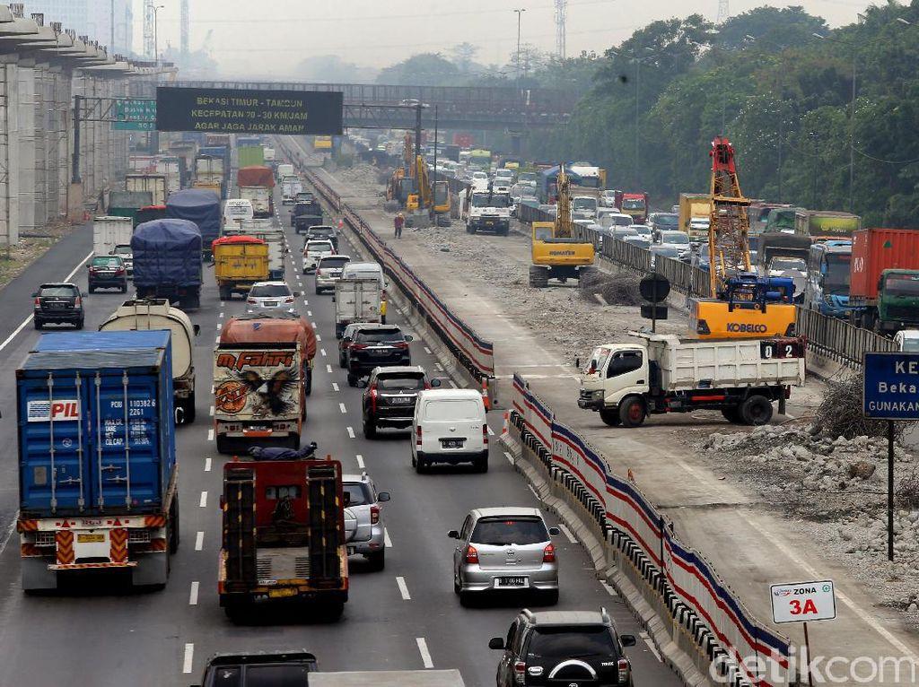 Begini penampakan proyek pembangunan tol Jakarta-Cikampek elevated (layang).