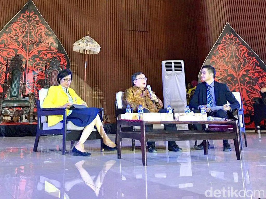 Selain Sri Mulyani, Menteri Perencanaan Pembangunan Nasional (PPN) Bambang Brodjonegoro juga hadir sebagai pembicara. Pool/Dok. Kemenkeu.