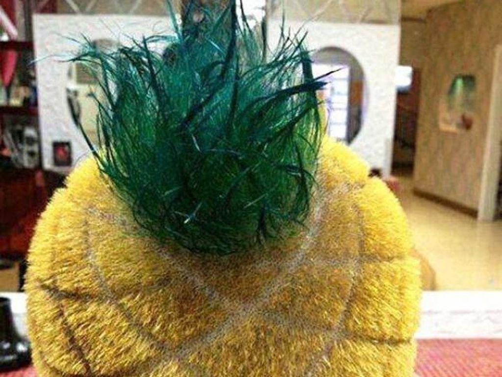 Gaya rambut nanas. Foto: Internet