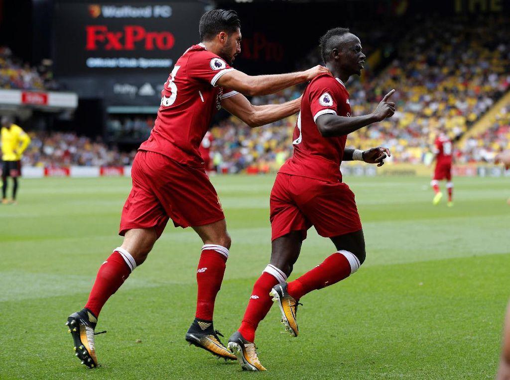 Sadio Mane membuka gol pertama Liverpool musim ini. Di musim lalu, Mane juga bikin gol di laga pembuka (Foto: REUTERS/Darren Staples)
