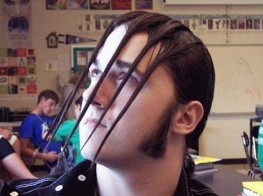 Gaya rambut yang terinspirasi dari cakar Wolverine. Foto: Internet