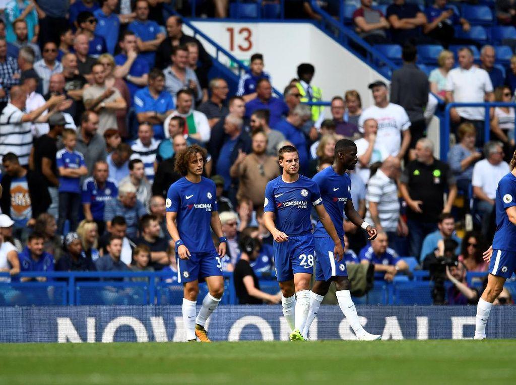 Chelsea sejatinya mendominasi jalannya pertandingan dengan penguasaan bola sebesar 62,4 persen. (Dylan Martinez/Reuters)