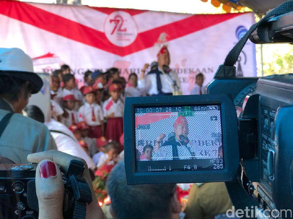 Menkominfo memberikan kata sambutan. Foto: Adi Fida Rachman/detikINET