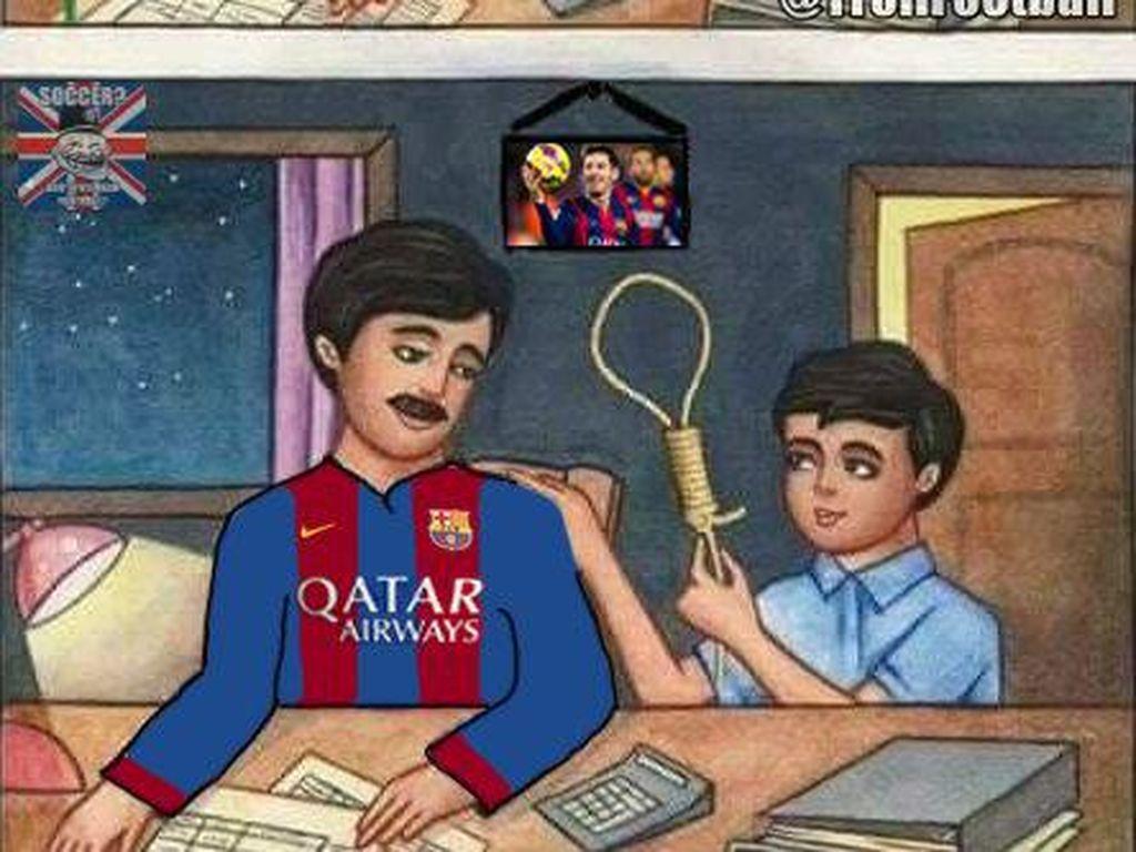 Meme Lucu Bertebaran Pasca Barcelona Dipecundangi Madrid