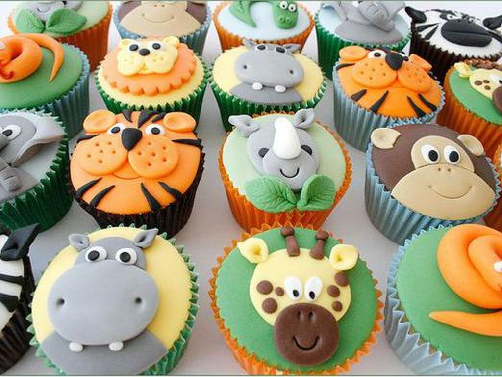 Menggemaskan! 8 Cupcake dengan Wajah Imut Lucu Binatang Ini