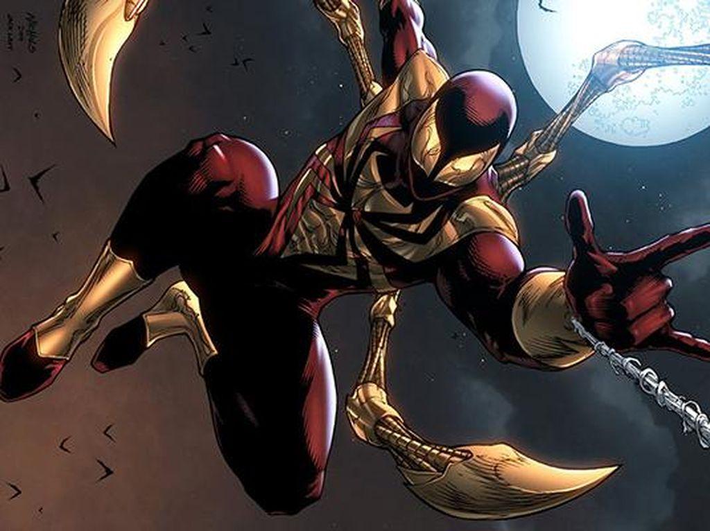 Bernama Iron Spider-Man dan dibuat pada tahun 2006, kostum ini merupakan pemberian dari karakter Tony Stark sang pemilik jubah Iron Man. Foto: istimewa