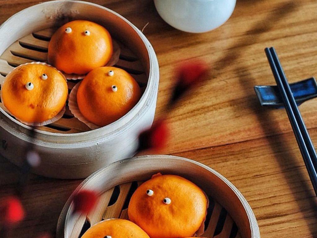 Resep Dim Sum : Steamed Custard Bun with Egg Yolk