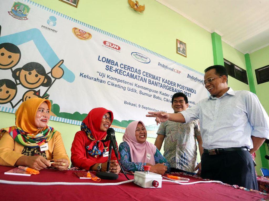 Lomba cerdas cermat yang digelar oleh PT Indofood Sukses Makmur itu diikuti 140 kader dari 45 posyandu se-kecamatan Bantargebang.