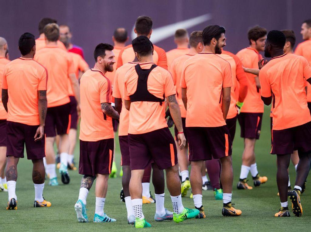 Barca akan menjamu Juve di Camp Nou, Rabu (13/9/2017) dinihari WIB, pada laga di Grup D. Grup ini juga dihuni Sporting Lisbon dan Olympiakos. Foto: Alex Caparros/Getty Images