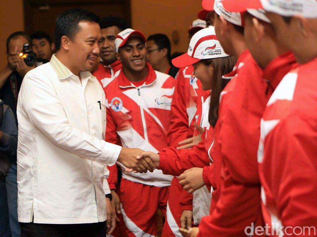 Kontingen Indonesia mengikuti 11 cabang olahraga (atletik, angkat berat, bulu tangkis, catur, goalball, sepak bola Cerebral Palsy (CP), panahan, tenis meja, renang, ten pin bowling dan voli duduk). (dok. Kemenpora)