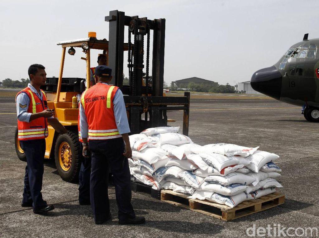 Total bantuan yang dikirimkan oleh Indonesia berjumlah 34 ton.