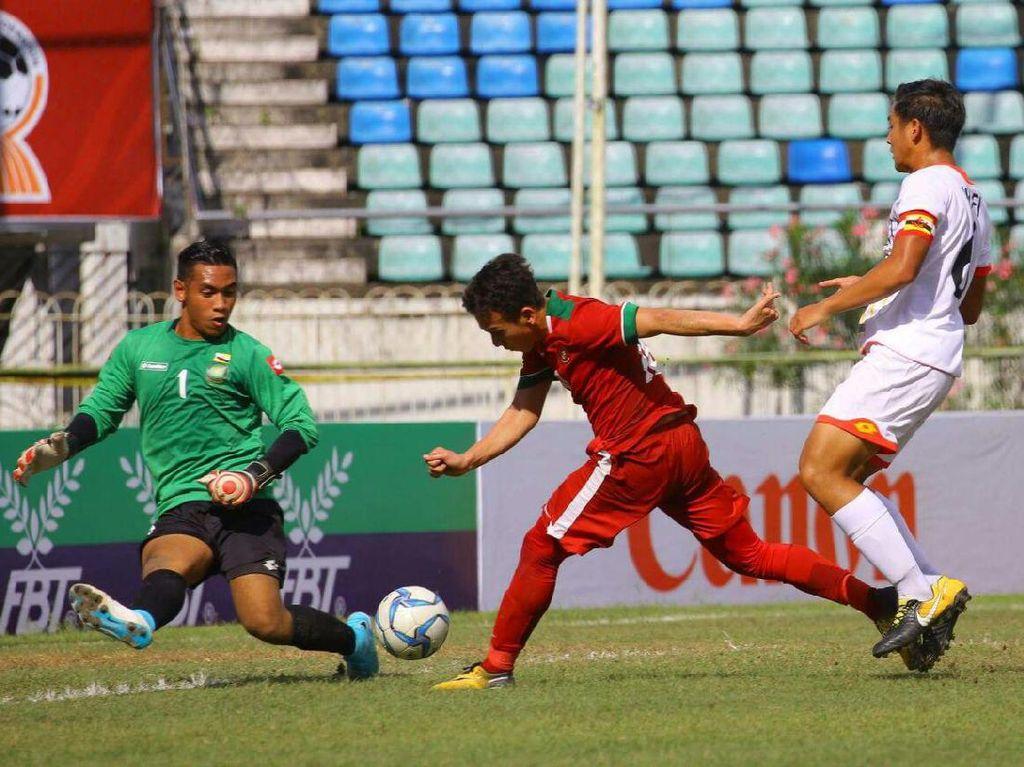 Kemenangan ini mengantar Indonesia lolos ke semifinal. Indonesia menjadi juara Grup B dengan perolehan 9 poin dari 4 laga. Foto: dok.Humas PSSI