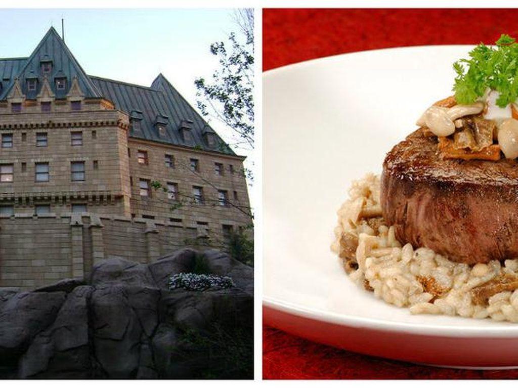 Le Cellier Steakhouse yang berada di Epcot Disney ini punya bangunan yang unik dan menyajian sajian daging premium. Wow! Foto: Istimewa
