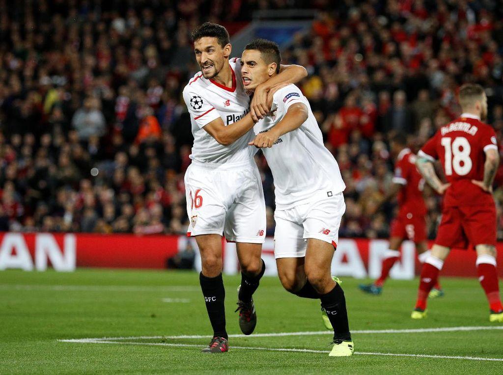 Sevilla unggul cepat ketika laga baru berjalan lima menit lewat gol dari Wissam Ben Yedder. (Foto: Phil Noble/Reuters)
